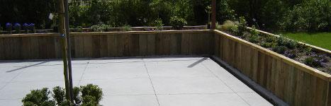 Bestrating beton storten